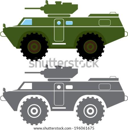 Combat vehicle vector - stock vector