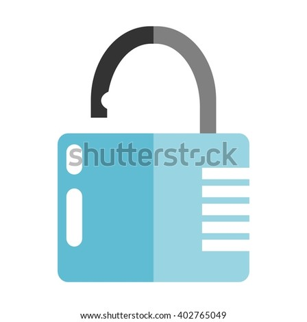 Combination lock isolated on white background. Flat design - stock vector