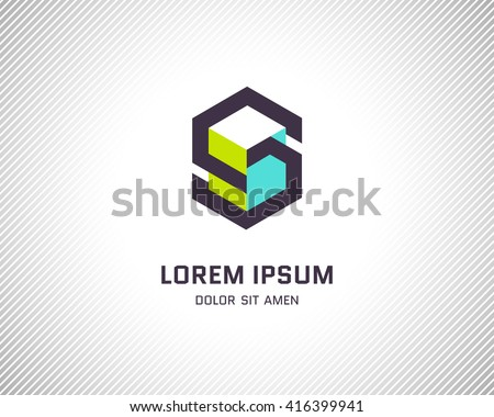 Combination of Letter S. Abstract Vector Logo Design Template. Creative Color Geometric Concept Icon - stock vector