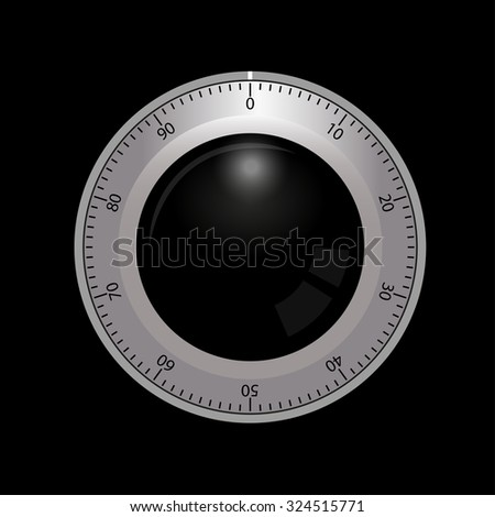 combination safe lock  - stock vector