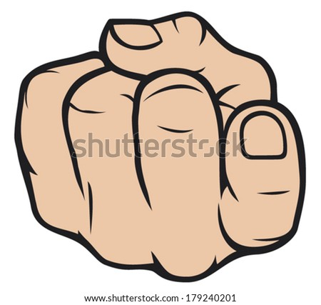 come here gesture finger - stock vector