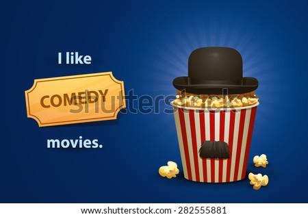 Comedy movies, vector - stock vector