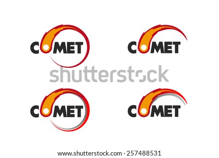 Comet flame burning up for business logo - stock vector