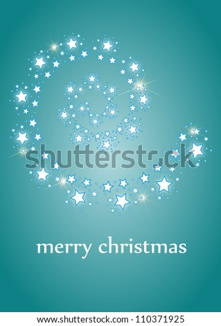 Comet on blue background - stock vector