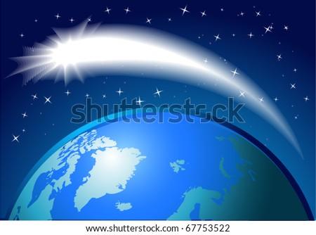 Comet. Vector illustration. eps10 - stock vector