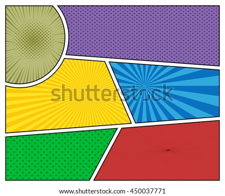 Comic Book Backgrounds Different Colors Radial Stock Vector (Royalty ...