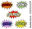 Comic book balloons isolated over white background - stock photo