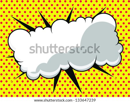 Comic Book Bubble: Ready for Text - stock vector