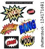 Comic book  effect words collection. - stock vector