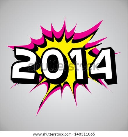 Comic book explosion bubble, vector illustration, 2013 - stock vector
