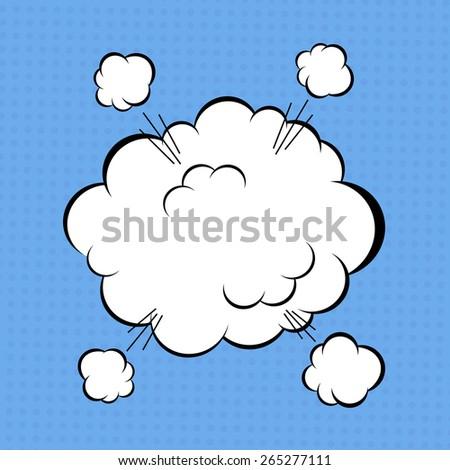 Comic book explosion cloud. Vector illustration - stock vector
