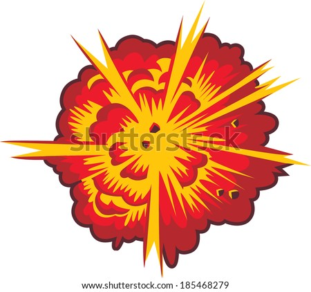 Comic book explosion illustration - stock vector