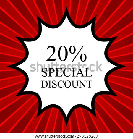 Comic book explosion with text Special Discount - stock vector