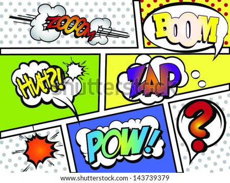 Comic Book Page With Elements! - stock vector