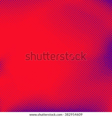 Comic book style pop art abstract page template. Vector illustration - stock vector