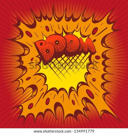 Comic book vector boom - stock vector