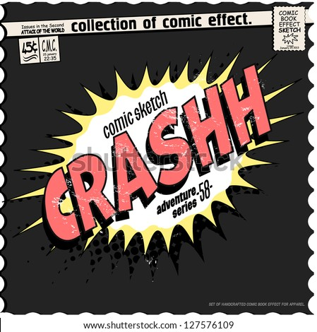 comic book words effect - stock vector