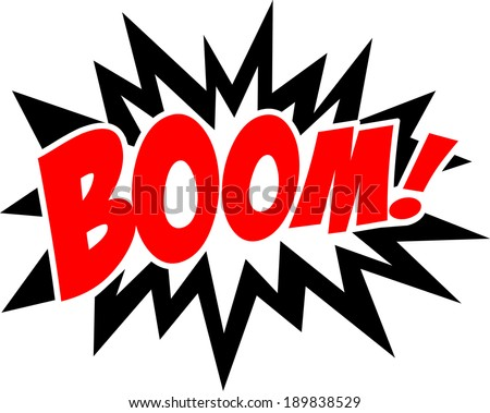 COMIC BOOM! Speech Bubble, Comic Book Explosion, Cartoon - stock vector