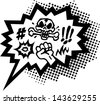 Comic Curses, Speech Bubble, Balloon - 2 Colors - Vector Image - stock