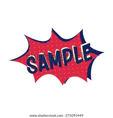 Comic explosion with text sample - stock vector