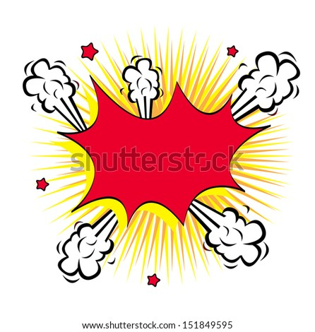 comic icon over white  background vector illustration   - stock vector