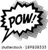 COMIC POW! Speech Bubble, Comic Book Explosion, Cartoon - stock