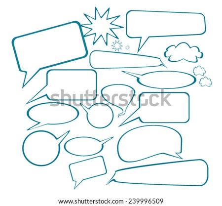 Comic speech Bubble - stock vector