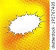 Comic speech bubble background pop-art style. Vector illustration - stock