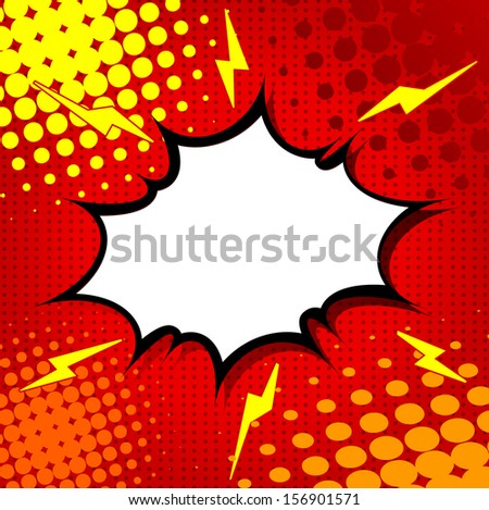 Comic Speech Bubble, Cartoon - stock vector