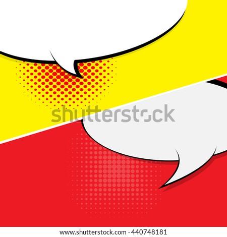 Comic Speech Bubble, Cartoon - stock vector