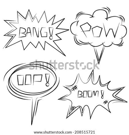 comic speech bubble, cartoon bang - stock vector