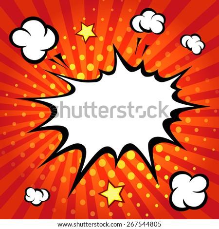 Comic speech bubble, comic cartoon backgound vector - stock vector