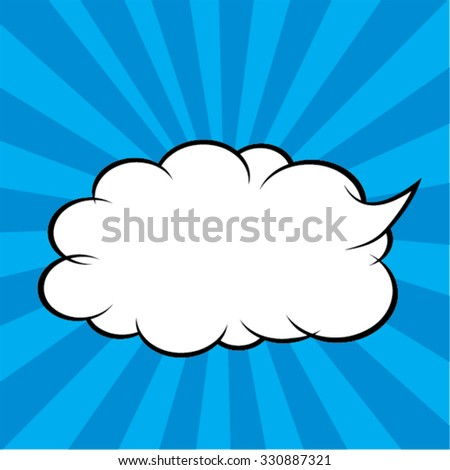Comic Speech Bubble in Pop Art Style. vector illustration. Cartoon. - stock vector