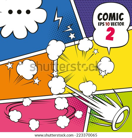Comic speech bubbles and other EPS10 vector - stock vector