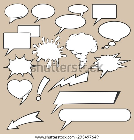Comic speech bubbles icons - stock vector