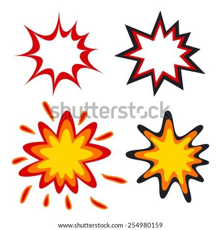 Comic speech bubbles in pop art style vector illustration - stock vector