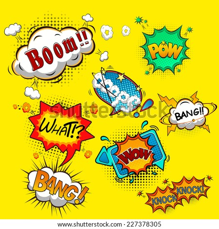 Comic speech bubbles vector - stock vector