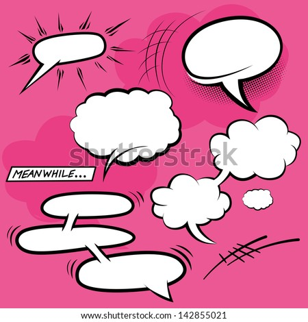 Comic Speech Bubbles - vector illustration. - stock vector