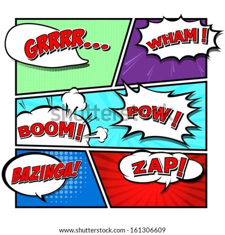 comic speech bubbles,Vector Illustration  - stock vector