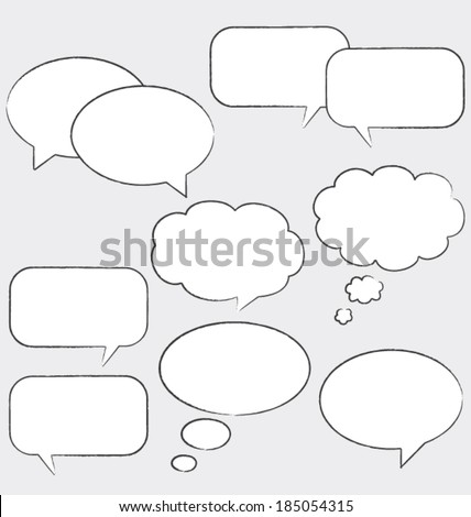 Comic speech bubbles. Vector set. Flat design ui. - stock vector