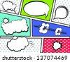 Comic Strip with Speech Bubbles- Vector - stock vector