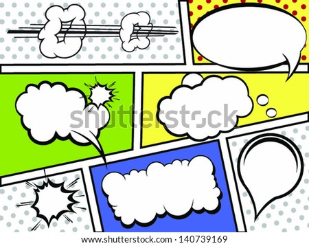 The gallery for comic book action bubbles png for Comic strip bubble template