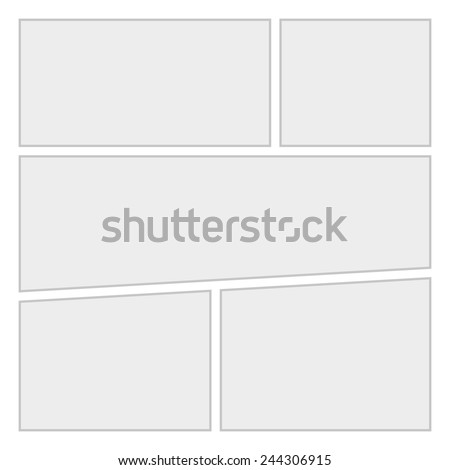 Comics blank layout template background. Vector illustration - stock vector