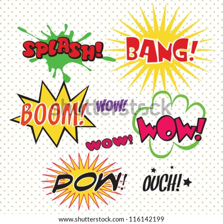 Comics Bubble Superhero bashing - stock vector