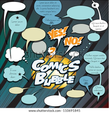 Comics dialog bubbles - stock vector