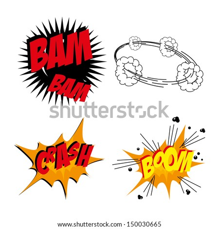 comics icons over white background vector illustration - stock vector
