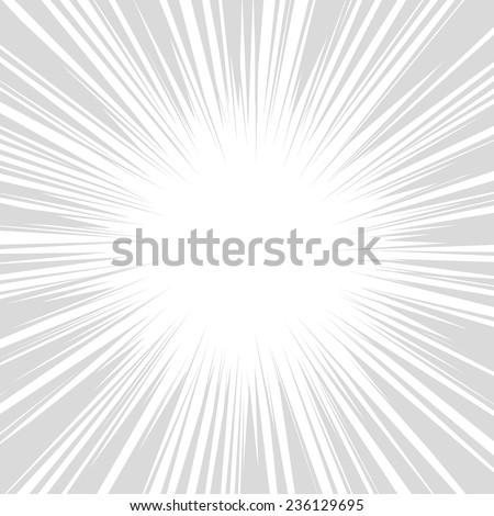 Comics Radial Speed Lines graphic effects. Vector illustration - stock vector