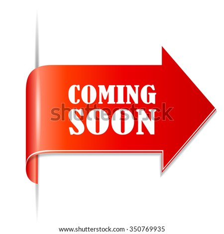 Coming soon arrow ribbon - stock vector
