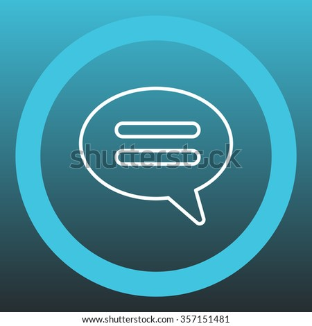 comment line icon - stock vector
