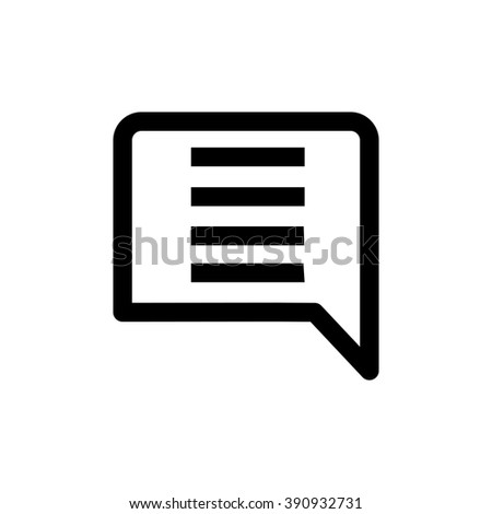 Comment line icon. Pixel perfect fully editable vector icon suitable for websites, info graphics and print media. - stock vector